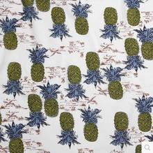 50*140cm Japanese Garden pineapple printing fabric garment fabric printing cloth cotton and linen for sewing diy handmade fabric