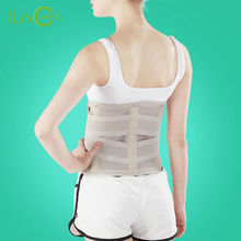 Breathable Lumbar Support Belt Back with 3 ABS Support cartilageTreatment of Lumbar Disc Herniation Lumber Muscle Strain(China)