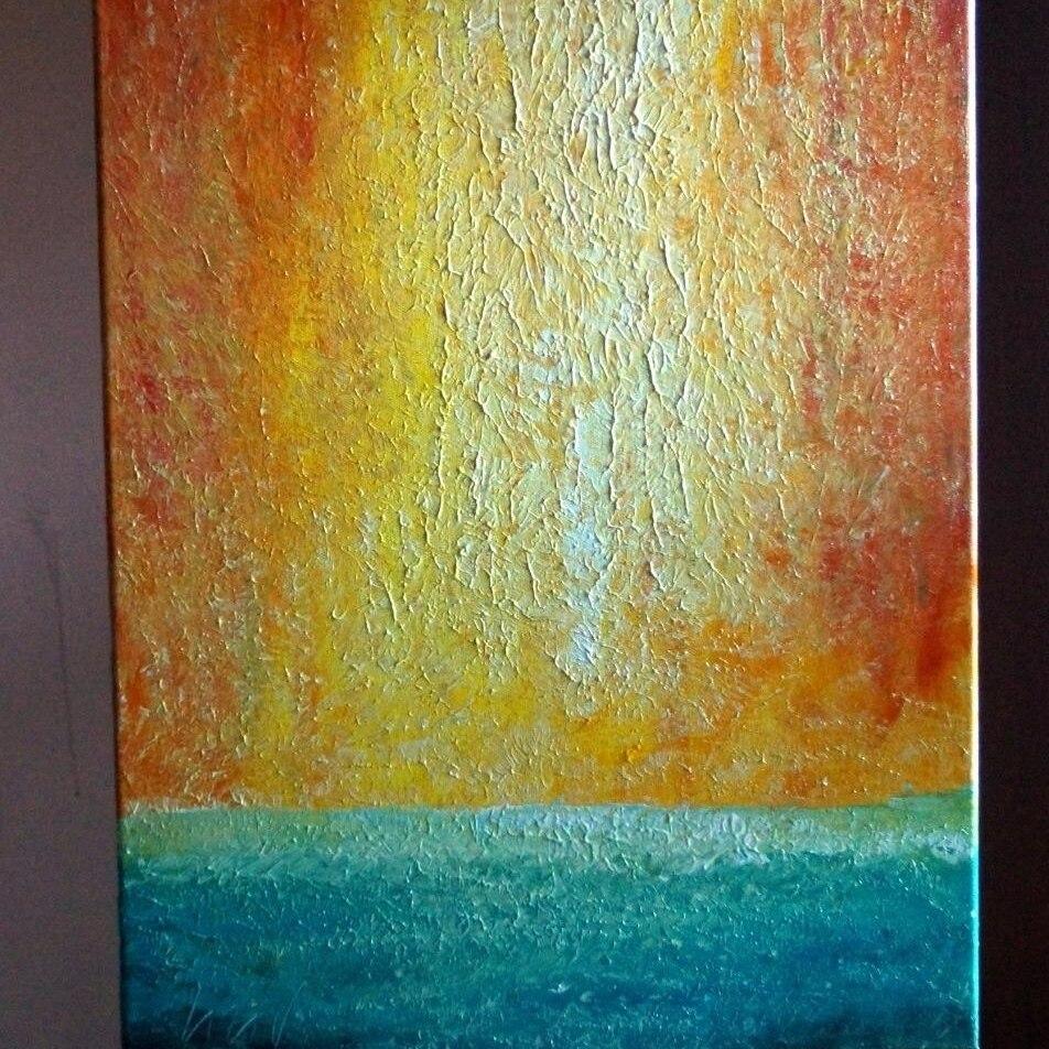 Beach WATER Sand ARUBA Abstract minimalist canvas, aerial SUNSET (3)
