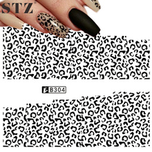 STZ 1 Sheets Retail Lowest Price Nail Art Sticker Water Transfer Full Cover Irregular Shape for Tips Finger Sexy Decals B304