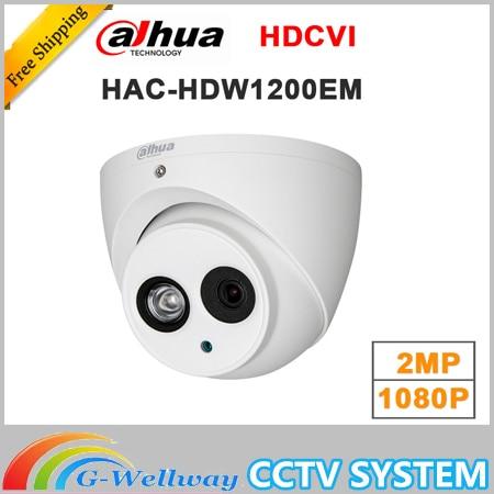 Wholesale english version dahua 2MP 1080P HDCVI HAC-HDW1200EM replace HAC-HDW1200E IR Eyeball Camera DH-HAC-HDW1200EM<br>