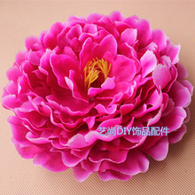18CM artificial peony flower,large silk peony flowers heads for diy flowers arrangements,wedding wrist corsages accessories