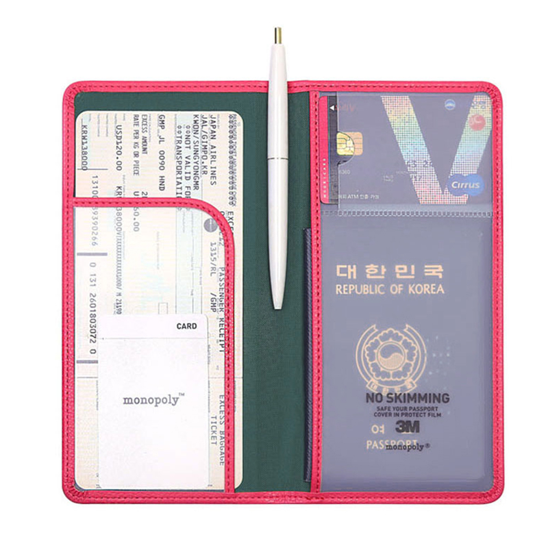 Popular Women &amp; Men Fashion Faux Leather Travel Long Passport Holder Cover ID Card Bag Passport Wallet Protective Sleeve<br><br>Aliexpress