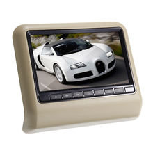 1PCS 9 Inch Car Pillow Headrest DVD Player Car Headrest Moniters 800*480 Games MP3 MP4 32Bit Game SD Free Shipping