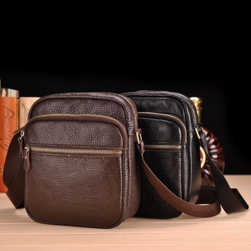 New Fashion brand men bags genuine leather casual men small messenger bags high quality Travel Shoulder Bags 2 colors<br><br>Aliexpress