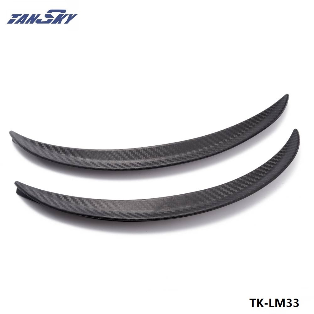 TANSKY -2pcs Universal Wheels Lip Fender Flares Auto Car Protector Cover Decorative Strip For Truck Car  TK-LM33