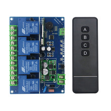Wide voltage 12V 24V 36V 48V 4CH 30A RF Wireless Remote Control Relay Switch Security System Garage Doors  Electric Doors(04X)