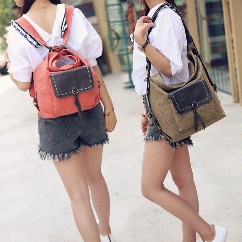 Women Canvas Backpacks Leisure Multifunctional Single Shoulder Bag High Capacity Bulk Fashion Style Travel Bag<br><br>Aliexpress