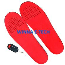 Winter Electric Heating Insoles 2300mAh With Remote Control  Shoes Boots Pad  Material PU Solid  41-46 Large Size