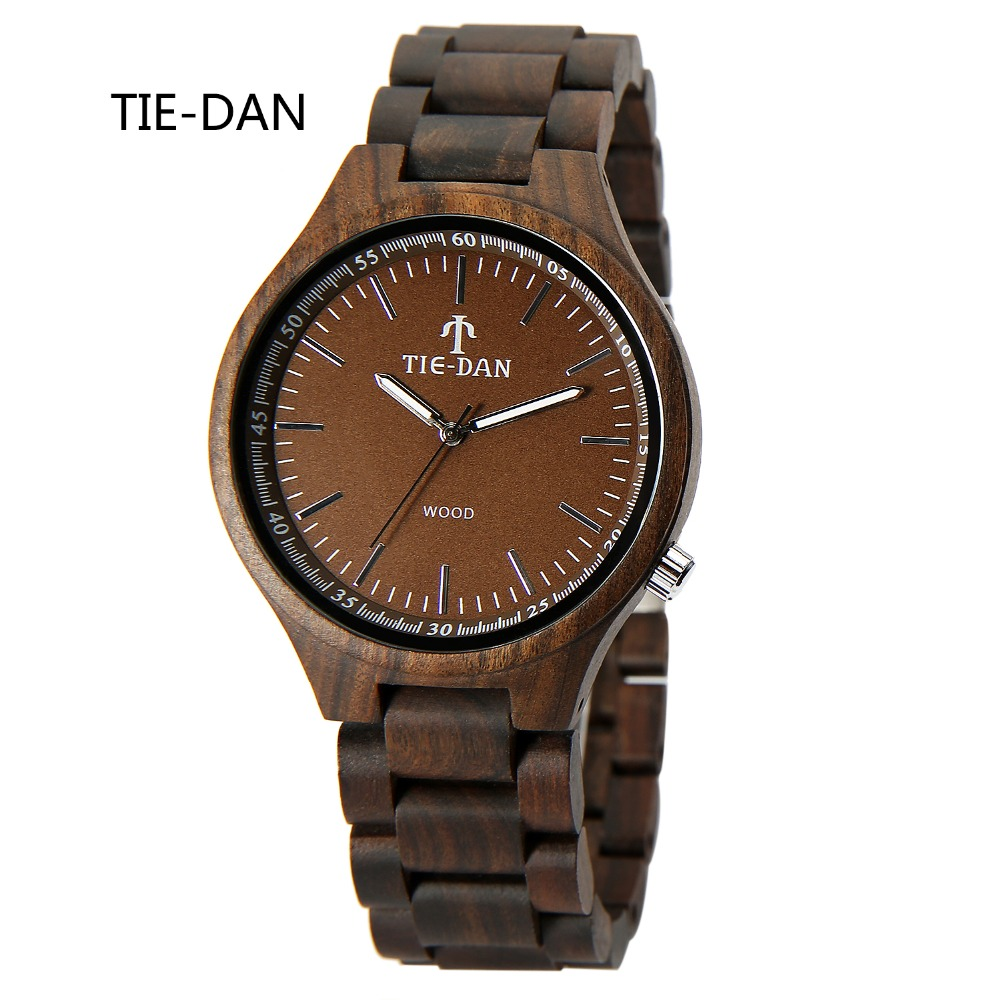 Simplely Wood Mens Watches Top Brand Full Wooden Luxury Quartz Wristwatches Relogio Masculino Folding Clasp Male Clock<br><br>Aliexpress