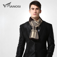 [VIANOSI] Wool Plaid Scarf Man Winter Brand Scarf Men Fashion Designer Shawl Bussiness Casual Scarves MA009(China)