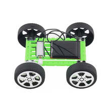 Green 1PC Funny Mini Solar Powered Toy DIY Car Kit Children Educational Gadget Hobby