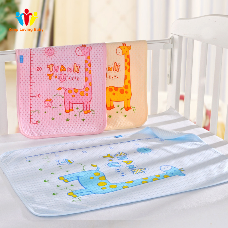 Mother & Kids Ideacherry 60*75cm Baby Cotton Diapers Mattress Cartoon Waterproof Changing Mat Baby Cushion Reusable Diaper Washable Urine Pad Mattresses