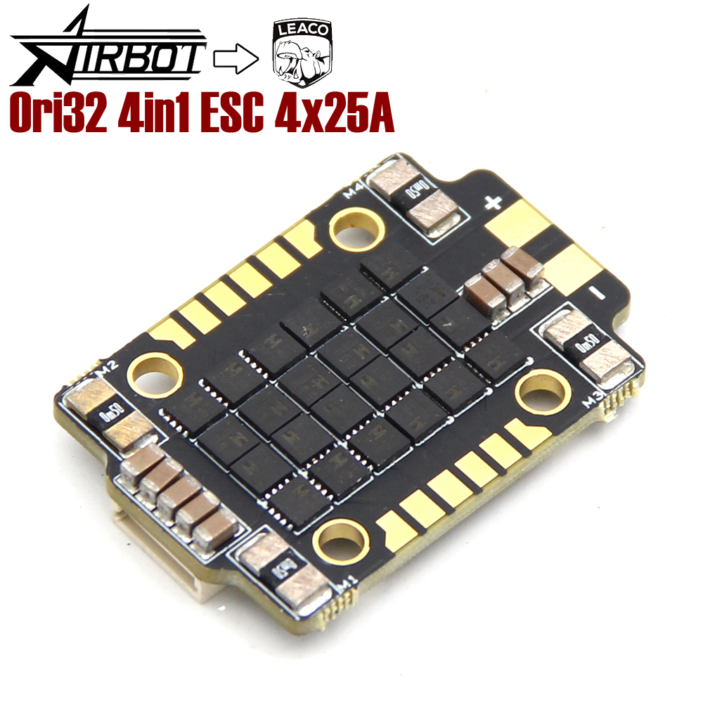 LHI Typhoon32 4in1 ESC 4x35A ESC with 30.5x30.5 mm Mounting Holes Supports DSHOT 1200 BLHELI32 firmware for Quadcopter Yellow Cap
