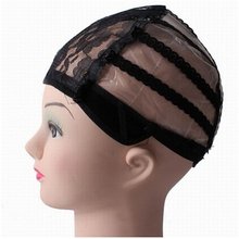 2016 Fashion Trendy Useful Glueless Full Lace Wig Cap Weave Wig Making Adjustable Straps Black Hot Free Shipping(China)