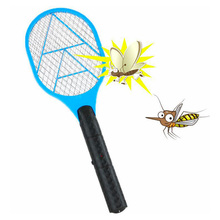 Net Dry Cell Hand Racket Electric Swatter Home Garden Pest Control Insect Bug Bat Wasp Zapper Fly Mosquito Killer(China)