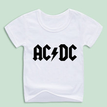 Children New Camisetas AC/DC band rock T Shirt Boy acdc Graphic T-shirts Print Casual Tshirt O Neck Hip Hop Short Sleeve