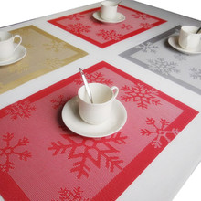 Urijk Dining Table Placemat Christmas Decorations for Home Kitchen Accessories Tableware Heat Insulated Pad Coffee Tea Place Mat