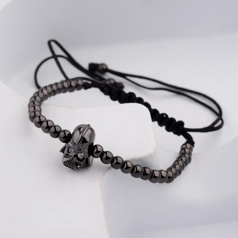 DOUVEI 17 New Black Diy Design Pave CZ Ball Charm Bracelet Men Women Braided Macrame Copper Beads Jewelry Gift For Men Women 11