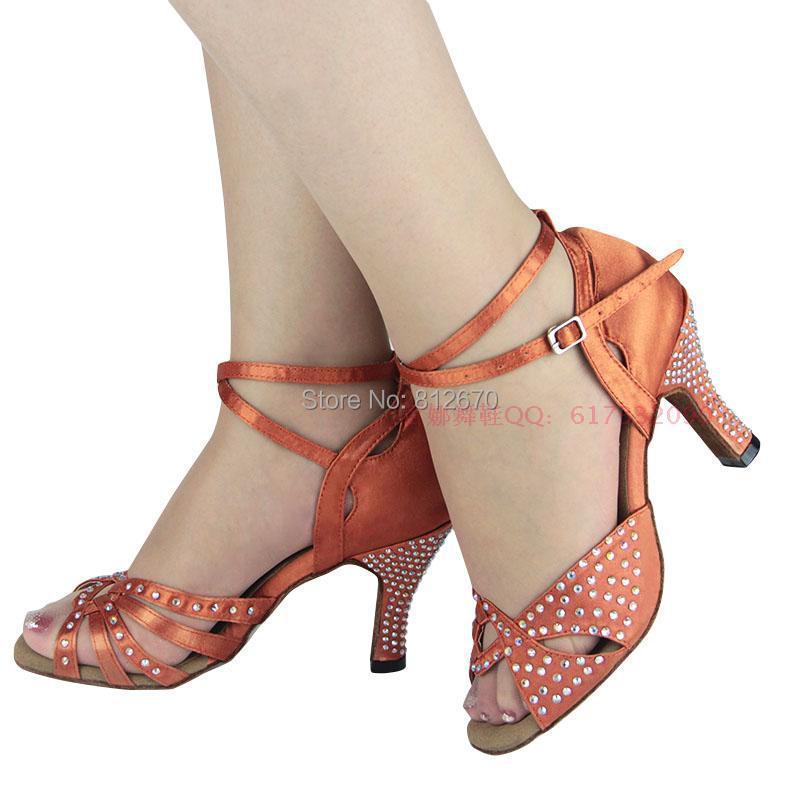 Samba rhinestone latin dance shoes women &amp; girls Satin dance legend ladies shoes ballroom dance shoes with soft outsole XC-6373<br><br>Aliexpress