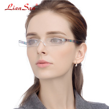 LianSan Vintage Retro Rimless Half-rim Reading Glasses Women Men Presbyopia Hyperopia L3220