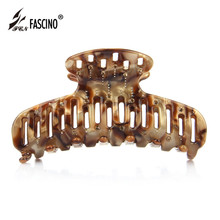 High Quality Cellulose Acetate Hair Claw Clip Hollow Out Barrette Rhinestone Hair Jewelry For Women Accessories Tiara (AG820043)