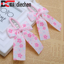 2pieces/lot floral pink grosgrain bows toddler baby girls hair snap clips hairpins children accessories free shipping