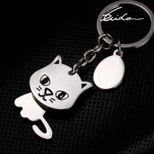 Buy cat keychain cute key ring women kitten key chain key holder high portachiavi llaveros chaveiro bag charm for $1.95 in AliExpress store