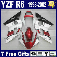 Motorcycle full fairings for YAMAHA YZF R6 1998 1999 2000 2001 2002  YZFR6 98 99 01 02 YZF600 Fairing aftermarket repair parts
