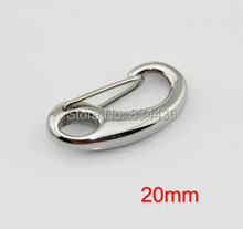 Free Shipping 20mm 316L stainless steel bracelets necklaces lobsters clasps hooks buckles women jewelry accessories parts 20pcs