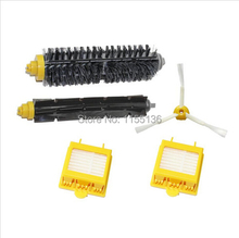 2 Hepa Filter + 1 set hair Brush kit + 1 side brush for iRobot Roomba 700 Series 770 780 790 vacuum cleaner accessories Parts