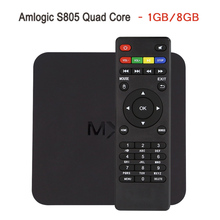 In Stock ! MX Amlogic S805 Quad Core TV Box Android 4.4 Kitkat H.265 Wifi Miracast Airplay HDMI 1GB RAM 8GB ROM Media Player(China)