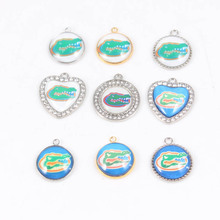 Wholesale American Football FLORIDA GATORS Team Enamel Charm USA DIY Dangles Charm For Jewelry Making Bracelet or Necklace(China)