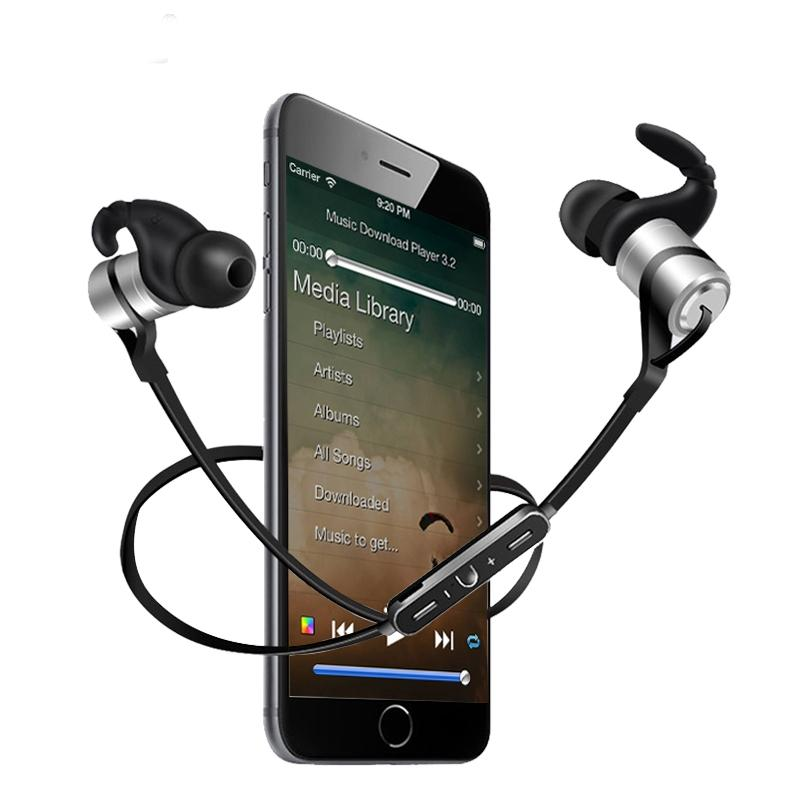 Avanshare D9 2017 Sports Wireless Bluetooth Earphone Anti-sweat Metal Headset Earbuds Earphones with Mic In-Ear for SmartPhones