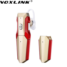 VOXLINK Bluetooth Earphone Double Batteries Wireless Mini Bluetooth Headphone 4.1 Rechargeable for Car Driving Mobile Phone(China)