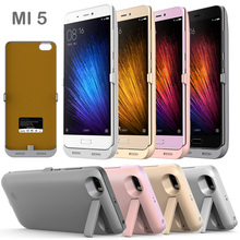 Buy External 4200mAh Power bank Pack backup battery Charger Case Xiaomi Mi5 + USB cable Tempered glass film for $15.00 in AliExpress store