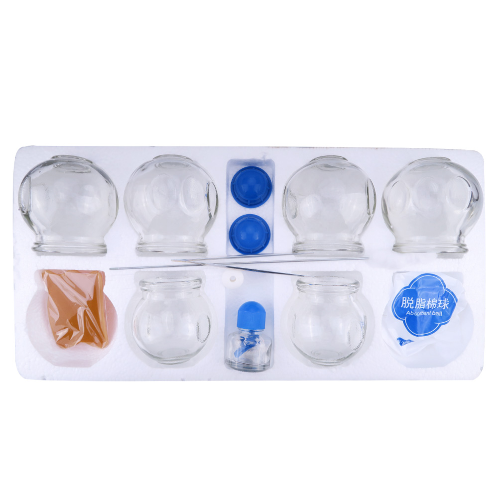 6Pcs Glass material Massage Cupping Cupping Therapy Cellulite Vacuum Cups Body Massager Cellulite Cupping Set<br>