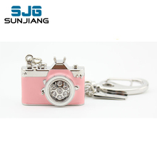 mini metal Camera usb flash drive pen drive 4gb pink 8gb 16gb 32gb gift 64gb high quality U Disk fashion pendrive(China)