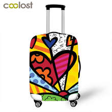 Illustrated Graffiti Suitcase Protective Covers Girls Luggage Protector For Man Woman Suitcase Accessories Elastic Bagages Cover(China)