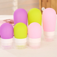 Hitorhike Portable silicone emulsion hand sanitizer bottle travel soft packaging body lotion shampoo