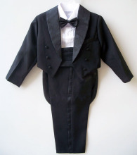 Boys suits for weddings Kids Prom Suits Black/White Wedding Suits for Boys Tuxedo Children Clothing Set Boy Formal Costume(China)