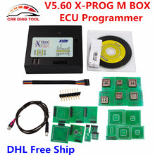 DHL Free Ship Latest Xprog Box V5.60 X Prog 5.60 ECU Chip Programmer X-Prog M V5.6.0 XPROG-M With USB Dongle Auto ECU Scan Tool