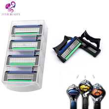 4pcs/lot Razor Blades for Men's Face Shaving Razor blade 5 Blade Cassette Shaving For Gillette Fusion Machine.