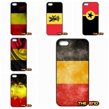 For iPhone 4 4S 5 5C SE 6 6S 7 Plus Galaxy J5 A5 A3 S5 S7 S6 Edge Vintage Lion of Flanders Belgium Flag Phone Case Cover