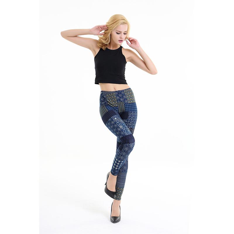 Dasbayla 17 Women Print Fashion Leggings Low Waist Thin stretch Ankle Skinny Pants Sexy Slim Ladies leggings Female 02 31