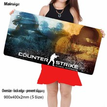 Mairuige Design FPS Design Big Laptop CSGO Mouse Pad Lock Edge, Anti-skid Rubber 90X40CM Game Player Computer Keyboard Pad(China)