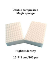 Double Compressed magic melamine sponge eraser pad. Durable high double density nano clean sponge for dish washing!(China)