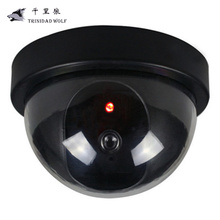 TRINIDAD WOLF Indoor / Outdoor Virtual Security Wireless Monitoring Red LED Flash Fake Dome CCTV Camera Analog Camera