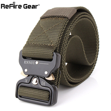 New Tactical Gear Heavy Duty Military Combat Belt Men SWAT Knock Off US Soldier Army Belt Casual Metal Buckle Nylon Belts 3.8cm(China)