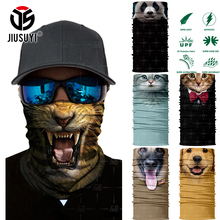 3D Seamless Multifunction Magic Tube Cute Animal Shield Face Mask Headband Bandana Headwear Ring Head Scarf Snowboard Men Women(China)